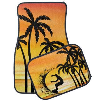 Beach Surfing Hawaiin Scenic Design Car Mat