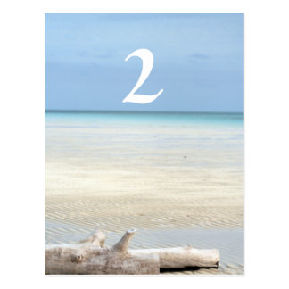 Beach Table Number Wedding Postcard