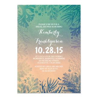 Beach Teal Ocean Underwater Bridal Shower 13 Cm X 18 Cm Invitation Card