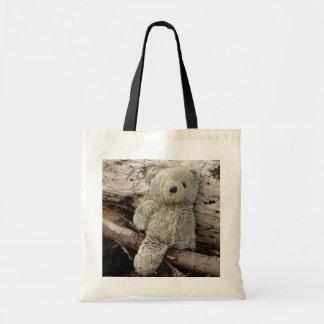 Beach Teddy Tote Budget Tote Bag