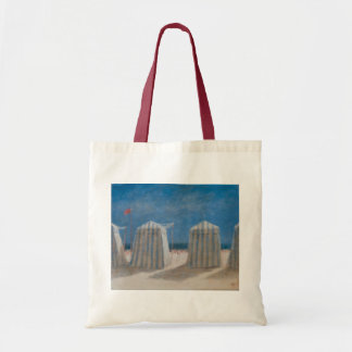 Beach Tents Brittany 2012 Budget Tote Bag