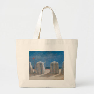 Beach Tents Brittany 2012 Large Tote Bag