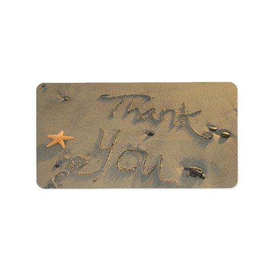 Beach Thank You Label w/ Starfish