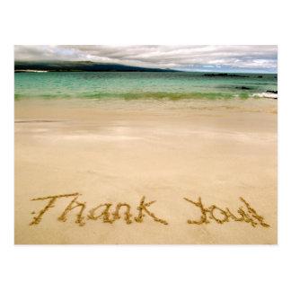 "Beach ""Thank You"" Note Postcard-Send on Honeymoon! Postcard"