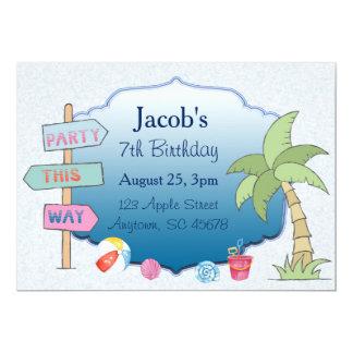 Beach Theme Custom Card