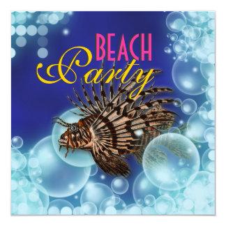 Beach theme elegant party personalized invites