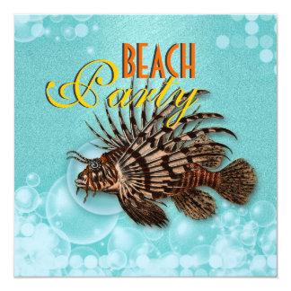 Beach theme elegant party custom invitation