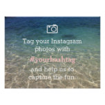 Beach Theme Instagram Photos Hashtag Wedding Sign