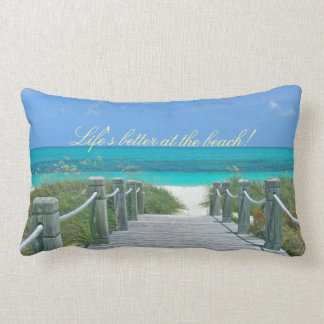 BEACH-THEME LUMBAR THROW PILLOW
