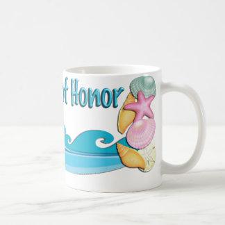 Beach theme Maid of Honor gift coffee mug, cup