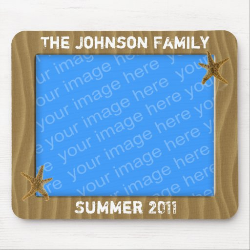 Beach Theme Photo Frame Mousepad Mouse Pads