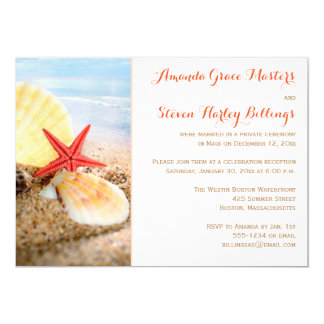 Beach Theme Post Wedding Reception Only Invite