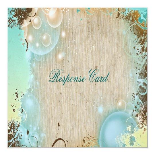 Beach theme response rsvp wedding card