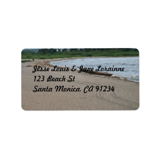 Beach Theme - Return Address Label