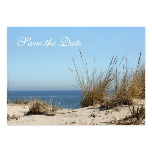 Beach Theme Save the Date Business Size Card Business Card Template