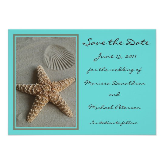 Beach Theme Save the Date Invitation Card