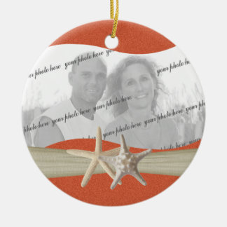 Beach Theme Starfish Photo Christmas Ornament