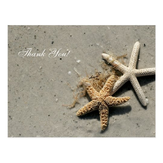 Beach Theme Thank You Postcards