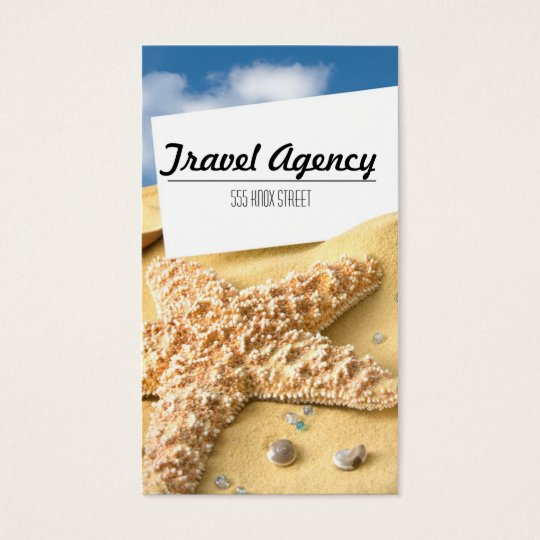 Beach Theme Travel Agency Business Card