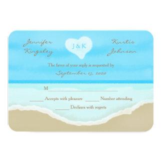 Beach Theme Watercolor RSVP Wedding Invitation