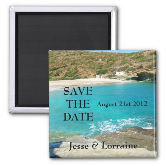 Beach Theme Wedding 2 - Save the Date Magnet 2
