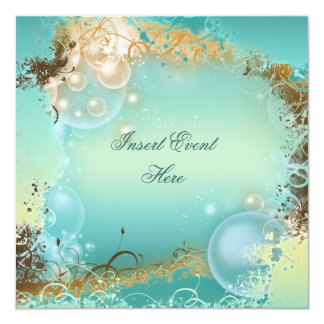 Beach theme wedding - elegant party card