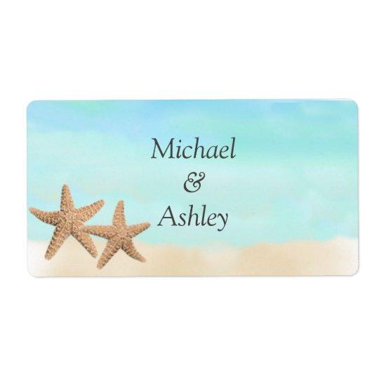 Beach Theme Wedding Favour Labels