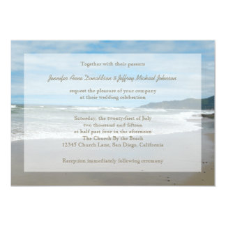 Beach Theme Wedding Invitations, Sandy Beach 13 Cm X 18 Cm Invitation Card