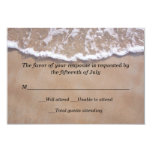 Beach Theme Wedding Response Card 9 Cm X 13 Cm Invitation Card
