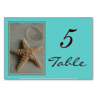 Beach Theme Wedding Table Numbers Cards