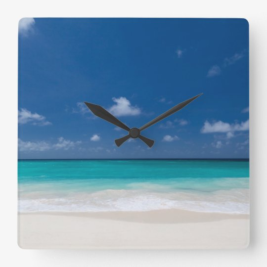 Beach Themed Gifts Large Square Wall Clock