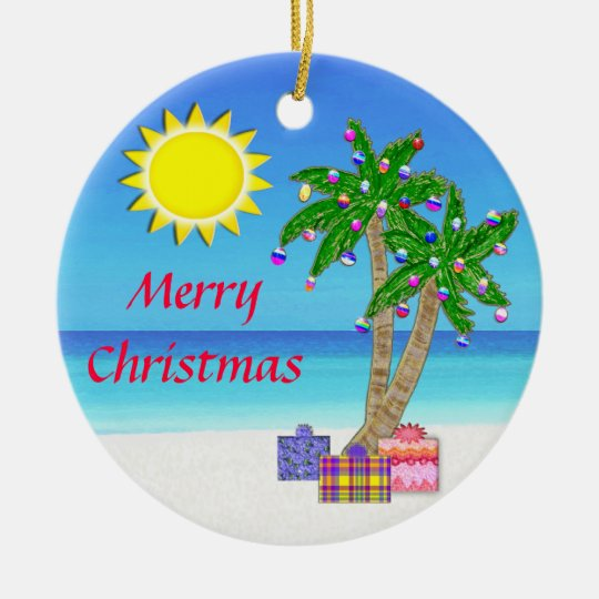 Beach Themed Ornaments, Merry Christmas! Christmas Ornament