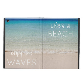 Beach Themed Tablet Cover with Quote
