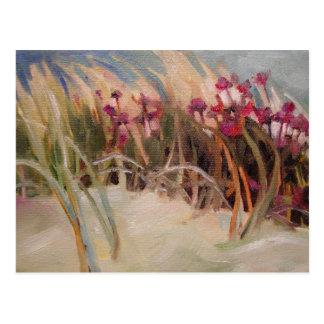 Beach Thistle and Dune Grass Postcard