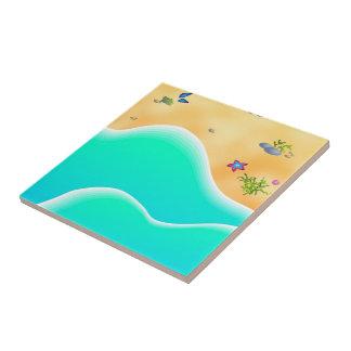 Beach Small Square Tile
