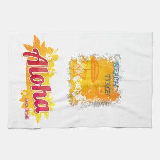 Beach Time Hawaii Tea Towel