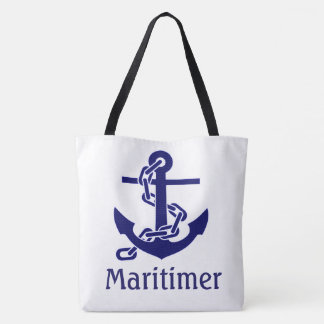 beach tote bag anchor maritimer