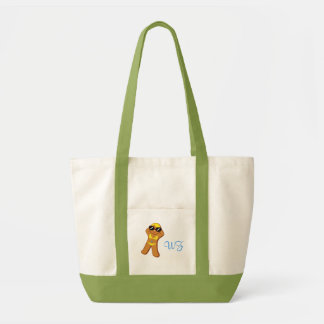 Beach Tote Bag with Personalized Initials