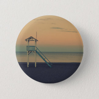 Beach Tower Sunset 6 Cm Round Badge