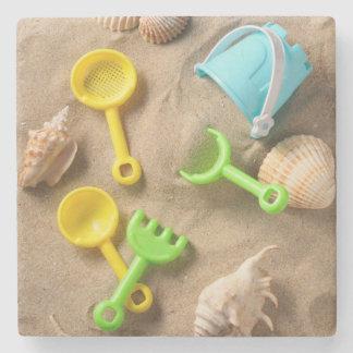 Beach Toys Stone Beverage Coaster