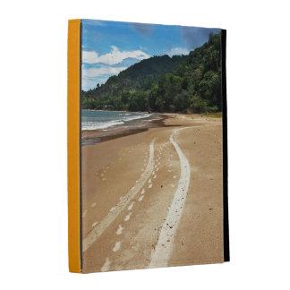 beach tracks iPad folio case
