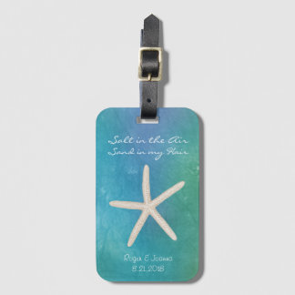 Beach Travel Wedding Luggage Tag