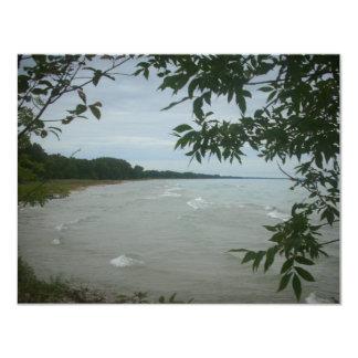 "Beach Tree Frame 4.25"" X 5.5"" Invitation Card"