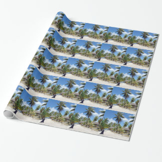 Beach Tropical Bed Breakfast Wrapping Paper