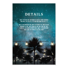 Beach Tropical Palm Tree Lights Wedding Details