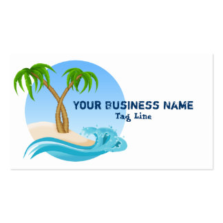 Beach Tropical Palm Trees Business Card