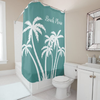 Beach Tropical Palm Trees Shower Curtain