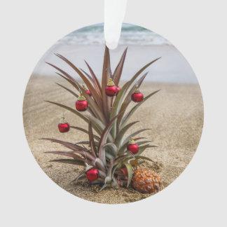 Beach Tropical Pineapple Christmas Ornament