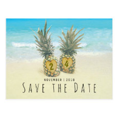 Beach Tropical Pineapple Save the Date