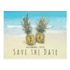 Beach Tropical Pineapple Save the Date Postcard